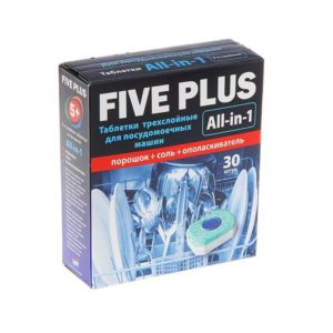 Таблетки «5+ FIVE PLUS» для посудомоечных машин 30шт 510гр