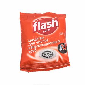 Сред-во для чистки канализац. труб FLASHine 100гр 1/20