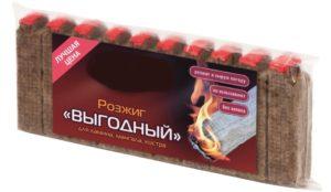 Розжиг ПИКНИЧОК «Выгодный» 10 брусков/уп  /288