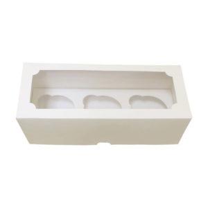 Короб для капкейка 3шт с окном 250*100*100 Pasticciere /100, шт