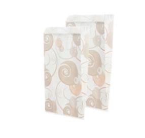 Пакет бумажный 250*140*60 бел с печ текпак 1/100/1000, шт