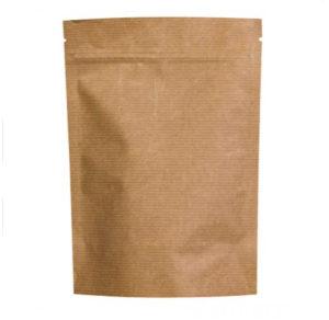 Пакет дой-пак 160*250+(45+45) бумаж. с замком зип-лок 50/500 aviora, шт