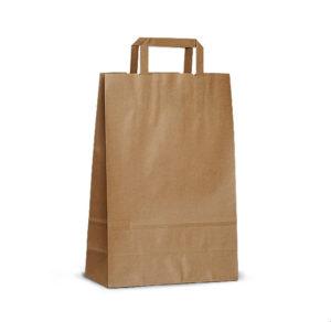 Пакет-сумка крафт 32+20х37 б/п с пл. ручкой /300, шт